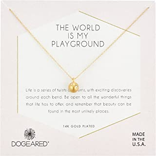 Dogeared Womens Gold Playground Chain Necklace, 16