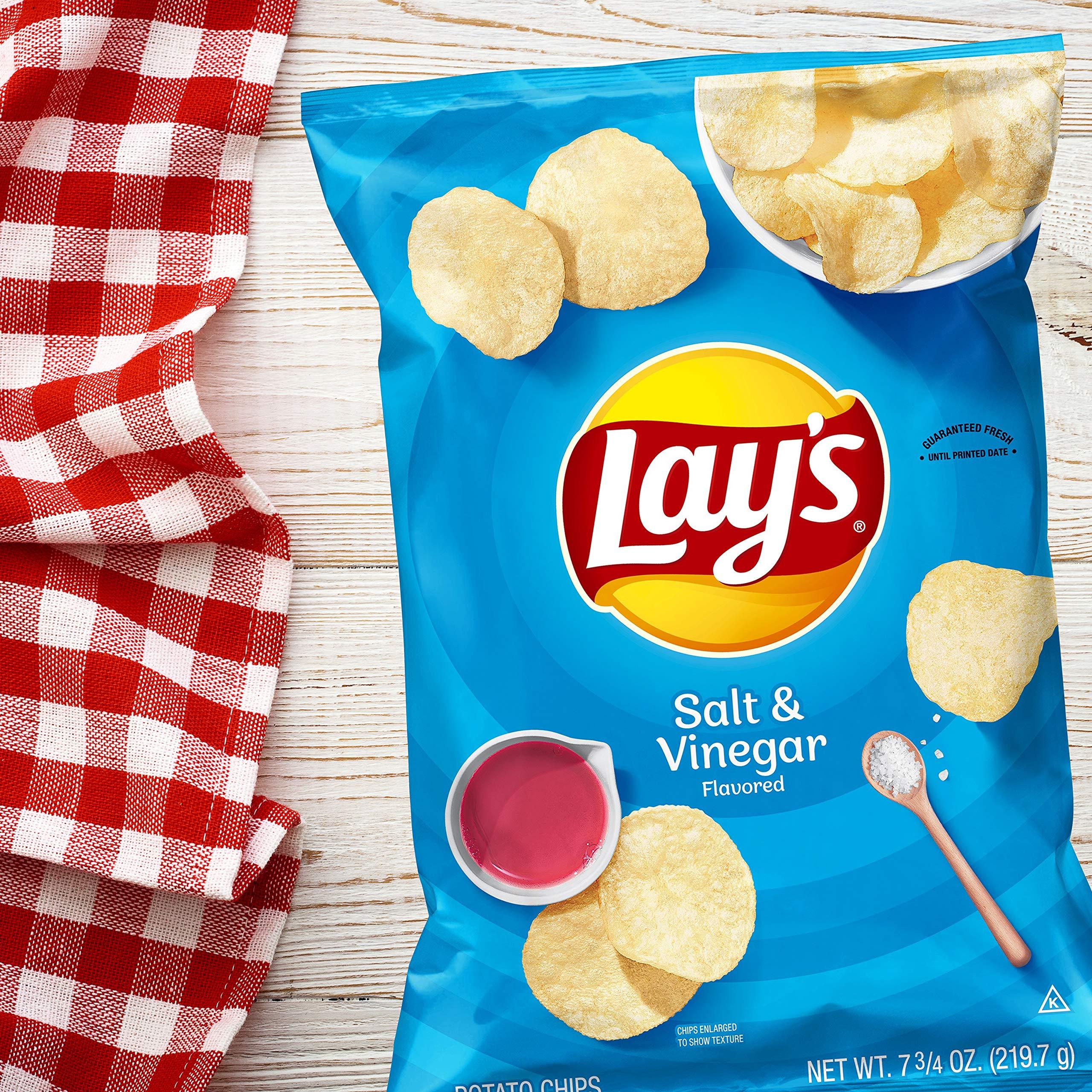 Lay's Potato Chips, Salt & Vinegar Flavor, 7.75oz Bag