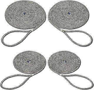 SEILFLECHTER - Set mit 4 Festmacher Taifun | Anlegeleinen mit gespleißten und getakelten 40 cm Augen