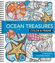Color & Frame Coloring Book - Ocean Treasures