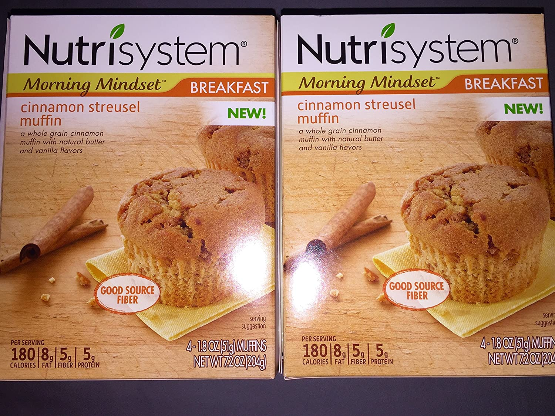 Ranking TOP2 Nutrisystem Morning Mindset Max 80% OFF Cinnamon Streusel 8 1.8 Muffins oz