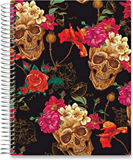 Tools4Wisdom 2020 Planner - Dated December 2019 Plus January to Dec 2020 Calendar Year - Daily Weekly Monthly Personal Organizer - 8.5 x 11 Sugar Skull Hardcover