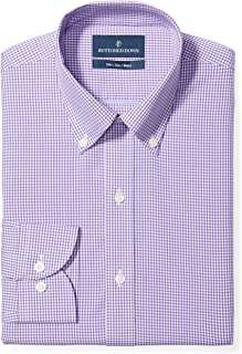 Buttoned Down mens Slim Fit Button Collar Pattern