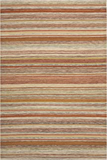 Safavieh Striped Kilim Collection STK311A Hand Woven Beige Premium Wool Area Rug (9' x 12')