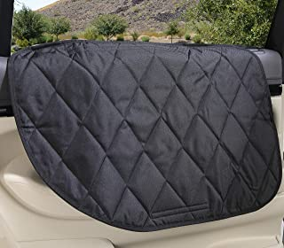 4Knines Dog Car Door Cover for Cars, Trucks and SUVs - USA Based Company - Two Door Guards (One for Each Side)