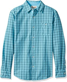 Men's Long Sleeve Space Dyed Gingham Check Shirt