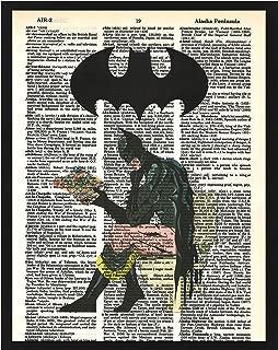 Signature Studios Superhero Batman Print Justice League DC Comics Superhero Dictionary Print Batman on Toilet Bathroom Humor 8x10 Print