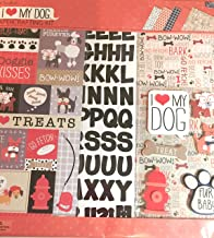 I Love (Heart )My Dog 12x12 Scrapbooking Page Kit, albums, frames, wall art, 13 pcs