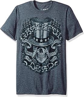 Liquid Blue Unisex-Adult 61551 Grateful Dead Memorial Ball Room Short Sleeve T-Shirt Short Sleeve T-Shirt - Gray