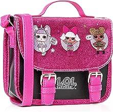 L.O.L. Surprise ! LOL Dolls Handbag For Girls Featuring Glitterati Doll Unicorn, Diva, Queen Bee | Black & Pink Kids Handbag Crossbody | Children Cross Body Bag | Fashion Shoulder Bags For Kids