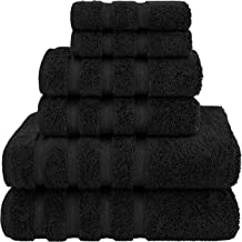 American Soft Linen 6-Piece 100% Organic Turkish Cotton Premium & Luxury Towel Set for Bathroom & Kitchen, 2 Bath Towels, ...