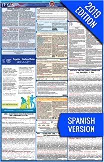 2019 Texas (Spanish) Labor Law Poster –State, Federal, OSHA Compliant – Single Laminated Poster