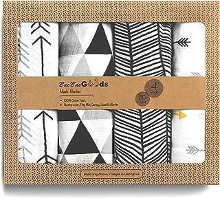 BaeBae Goods Muslin Swaddle Blankets | Black Triangles