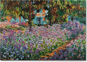 Monet Wall Art Collection Irises in Monet's Garden, 1900 03 Canvas Prints Wrapped Gallery Wall Art | Ready to Hang 12X18, 655MONET