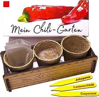 Mein Chili Garten - Ein originelles Geschenk für jeden Anlass. Ideales Chilianzucht-Set als Geschenk zu Weihnachten, Vatertag, Muttertag, Geburtstag oder Ostern