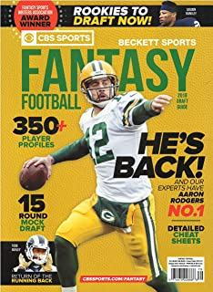 CBS Sports Beckett Sports Fantasy Football 2018 Draft guide Issue 79 Aaron Rodgers