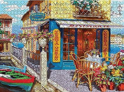 Puzzles for Adults 1000 Piece Large Puzzle, Vintage Paintings Landscape Jigsaw Puzzle(Pier Pub)