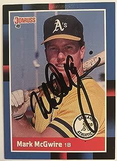 Mark McGwire Signed Autographed 1988 Donruss Baseball Card - Oakland Athletics