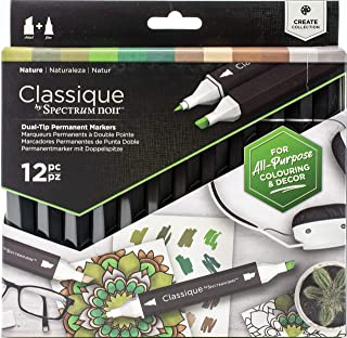 Spectrum Noir SPECN-CS12-NAT Classique Create Alcohol Marker Dual Nib Pens Set-Nature-Pack of 12