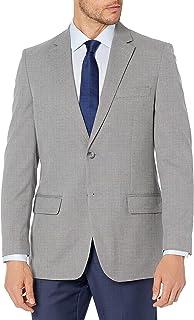Haggar Men's 2BTN TWLL Coat, Grey, 52 x R