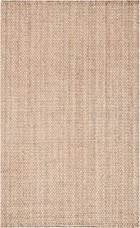 "Safavieh Natural Fiber Collection NF267A Handmade Farmhouse Premium Jute Accent Rug, 2'3"" x 4', Natural"