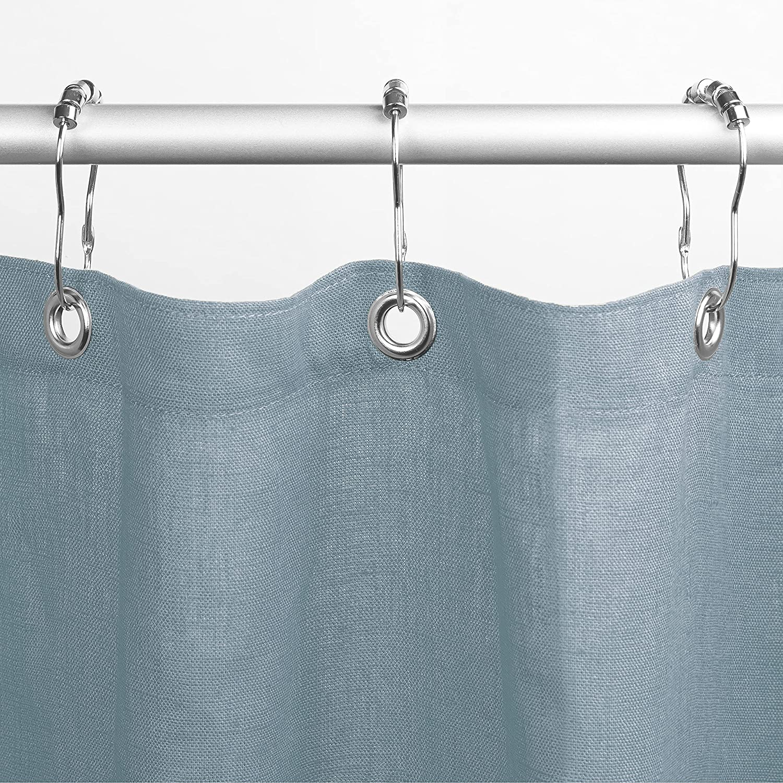 Bean Products Premium Linen Cheap Stall 36 Blue Sky Shower half Curtain