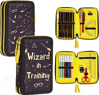 Harry Potter Piórnik dla dziewcząt, przybory piśmiennicze etui do szkoły dla dzieci i nastolatków, podwójny wypełniony pió...
