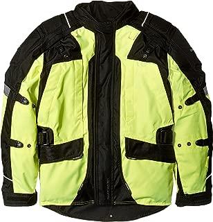 Tourmaster Transition Series 4 Men's Textile Motorcycle Touring Jacket (Hi-Viz/Black, Large)