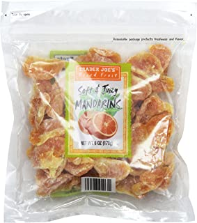 Trader Joe's Dried Fruit Soft & Juicy Mandarins 6 Oz, (Pack of 3), Set of 2
