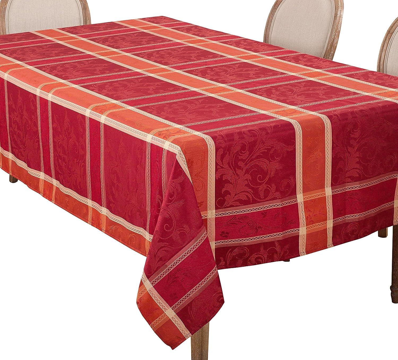 メーカー公式 SARO LIFESTYLE 売れ筋 Plaid Design Autumn Fall Season x Tablecloth 70