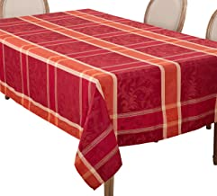 "SARO LIFESTYLE Plaid Design Autumn Fall Season Tablecloth, 70"" x 120"", Multi"