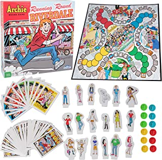The Archie Comics Board Game - Running 'Round Riverdale - Outwit Your Opponents and Be the First to Reach Pop Tate's Choclit Shoppe - Ages 7+