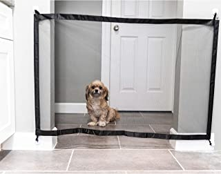 Dog Mesh Gate: Retractable Safety Gates for Pet Dogs and Walk Through Baby Gate. Extra Wide Fabric Doorway Barrier for Pets. for Doorways or Stairs, Door Mount, and Child Guard