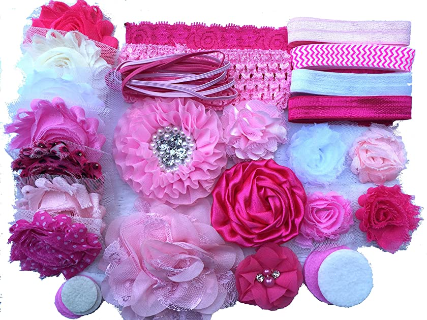 Bowtique Emilee Mini Headband Kit DIY Headband Kit Makes Over 15 Headbands - Pretty in Pink