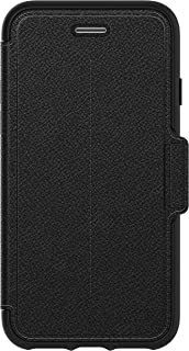 OtterBox STRADA SERIES Case for iPhone SE (2nd gen - 2020) and iPhone 8/7 (NOT PLUS) - Retail Packaging - SHADOW (BLACK/PE...