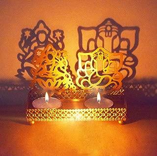 Lakshmi Ganesha (Shubh Labh) Diwali Shadow Diya. Deepawali Traditional Decorative Diya in Laxmi Ganesh Statue for Home/Office.Religious Tea Light Candle Holder Stand. Diwali Decoration Diwali Gift