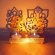 Lakshmi Ganesha (Shubh Labh) Shadow Diya. Deepawali Traditional Decorative Diya in Laxmi Ganesh Statue for Home/Office Rel...