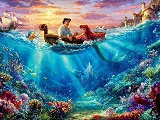 Ceaco 750 Piece Thomas Kinkade Disney Dreams - The Little Mermaid Falling in Love Jigsaw Puzzle, Kids and Adults