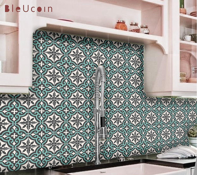 Tile Stickers Spa Wellness Bamboo Stone Petals Green Black Bathroom Toilet