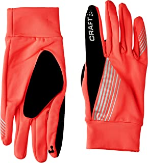 Craft Sportswear Brilliant Thermal High Visibility Reflective Running Gloves