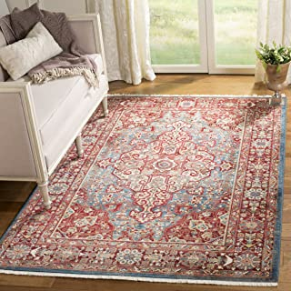 Safavieh Kashan Collection KSN305A Traditional Blue and Red Area Rug (5'1