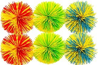 Impresa Products 6-Pack of Monkey Stringy Balls (Latex-Free, BPA/Phthalate-Free) - Great Fidget / Stress / Sensory Toy