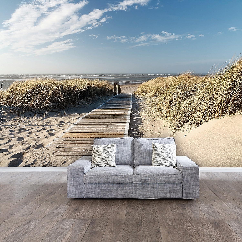 Fototapete Ocean Way 366x254cm Tapete Meer Ozean Strand Dünen Steg deco als