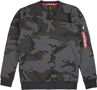 ALPHA INDUSTRIES Men Sweatshirt Blood Chit Print