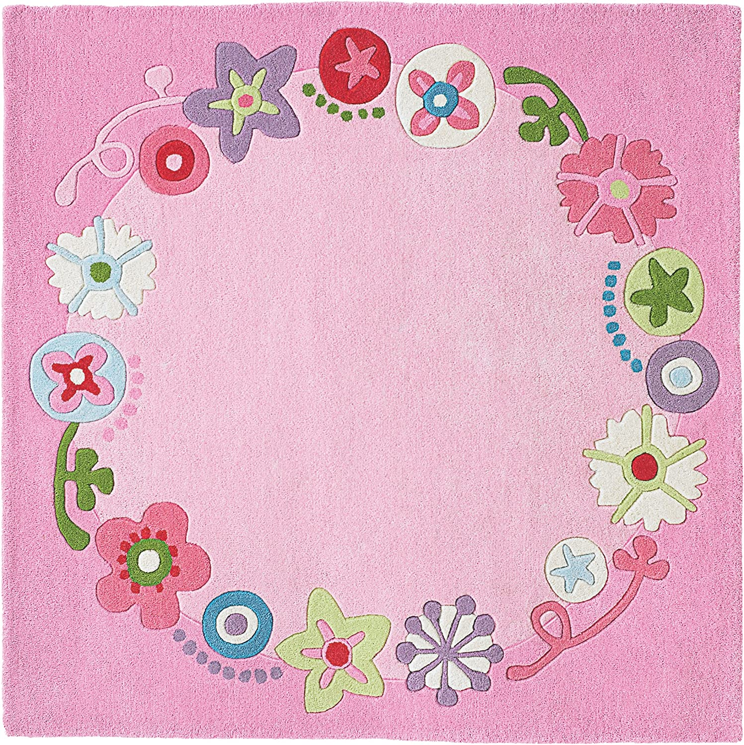 HABA 8062 Rug Floral Wreath Toy, Pink