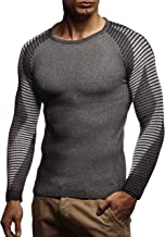 Leif Nelson pour des Hommes Pullover Pull en Tricot Hoodie Basic col Rond Crew Neck Sweatshirt Longsleeve Manche Longue Comouflage Sweater Feinstrick LN1645
