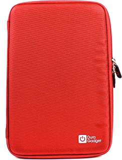 Red Hard Protective And Water Resistant Case / Cover With Zipper For Acer Iconia A3, Acer Iconia Tab W510 10.1-inch Tablet, Acer Iconia W511 - (Intel Atom Z2760 1.8GHz, Windows 8) & Acer Aspire ICONIA TAB W500 10.1 LED (AMD-C50 Dual Core, Windows 7 ) - NO KEYBOARD