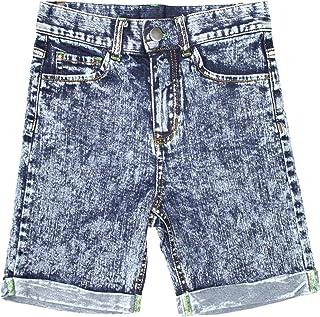 Niña Suave Mezclilla Cintura Alta Elástico Pantalones Cortos
