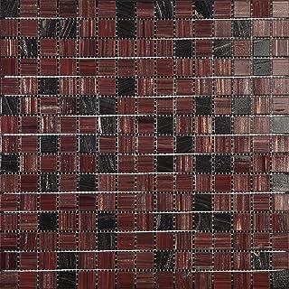 Decostyle ORX Mosaic Decorative, 4mm, 32.7x 32.7cm Set of 10Pieces, red, DEC-74291AXS499