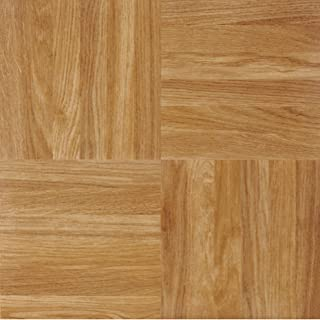 Achim Home Furnishings Achig FTVWD23220 Nexus Oak Parquet, 12 Inch x 12 Inch, Self Adhesive Vinyl Floor 232, 20 Tiles